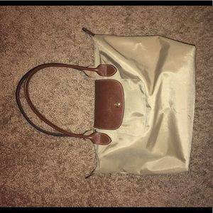 Small Beige Longchamp Tote